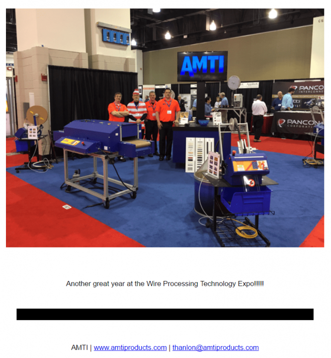 Thanks to those who found Tom at the 2017 Wire Processing Technology Expo!