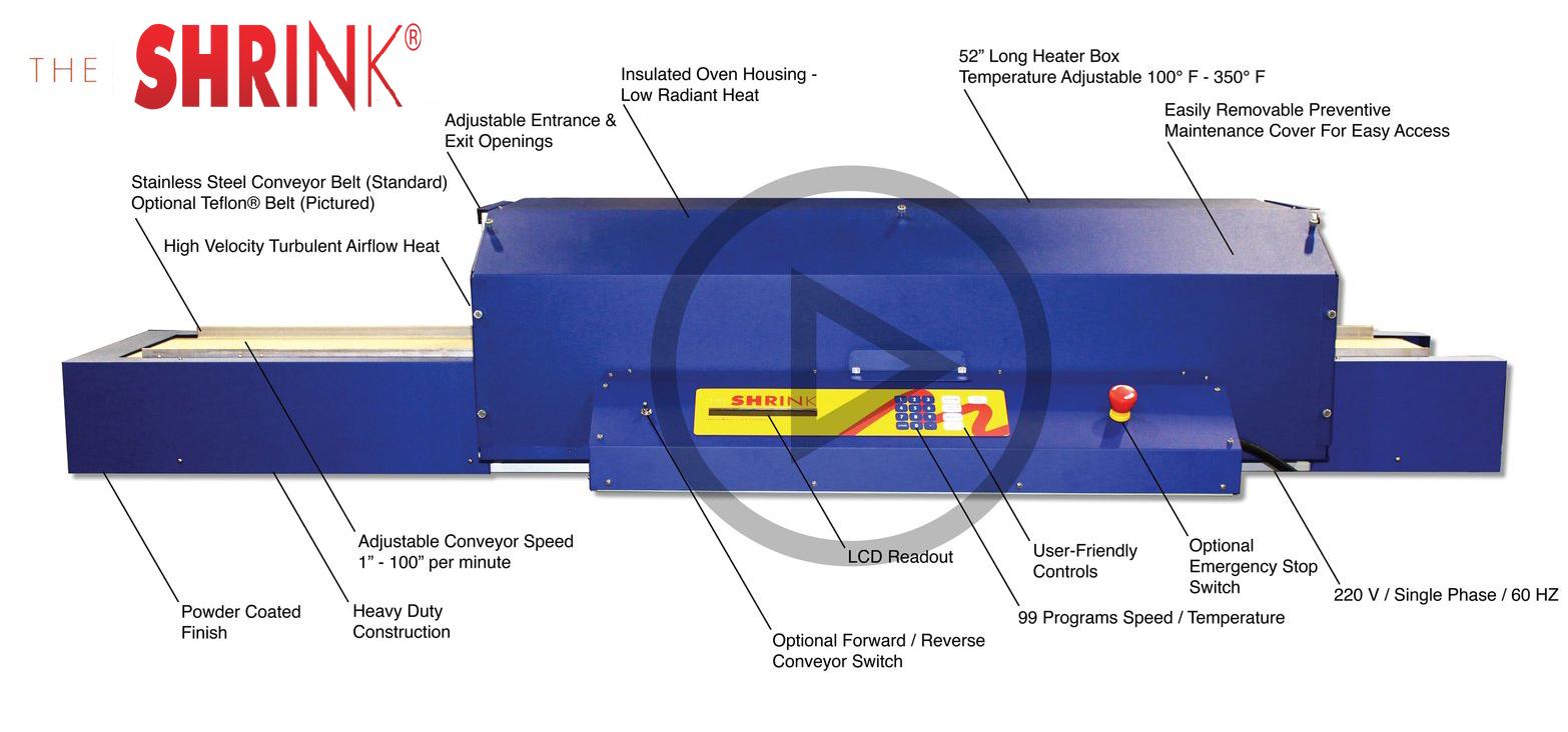 heat shrink oven amti products